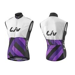 LIV Race Day Windbreaker Vest-white/purple