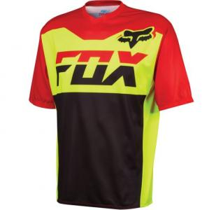 Fox Racing Covert Ss Jsy Flo Yellow